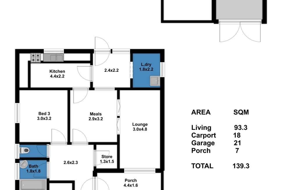 Floorplan of Homely house listing, 94 Fairfield Road, Elizabeth South SA 5112