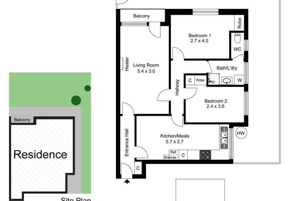 Floorplan of Homely apartment listing, 1/129 Grange Road, Glen Huntly VIC 3163