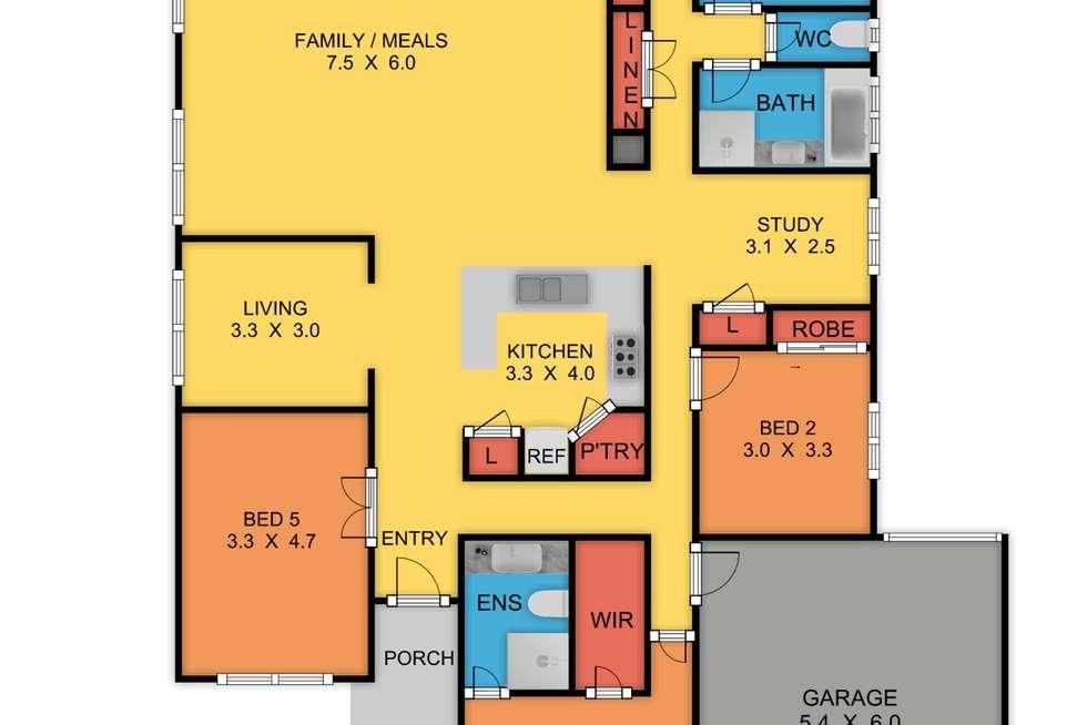 Floorplan of Homely house listing, 13 Alison Street, Truganina VIC 3029