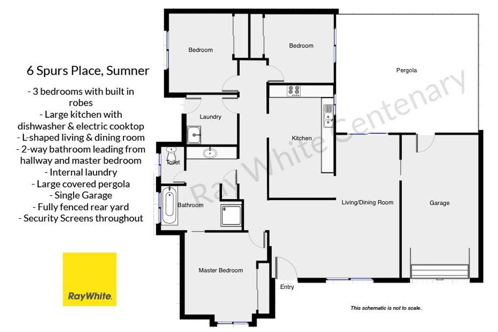 Floorplan of Homely house listing, 6 Spurs Place, Sumner QLD 4074