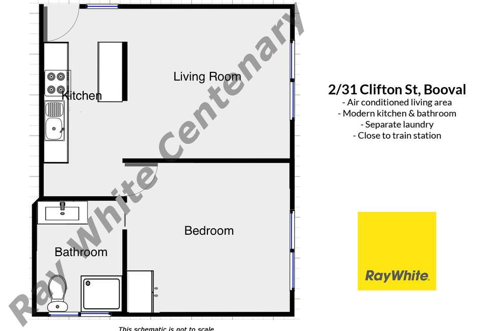 Floorplan of Homely unit listing, 2/31 Clifton Street, Booval QLD 4304