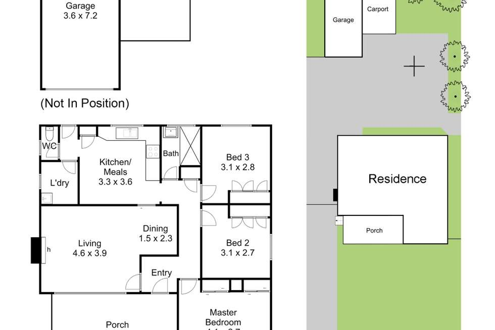 Floorplan of Homely house listing, 17 Emerald Drive, Springvale VIC 3171