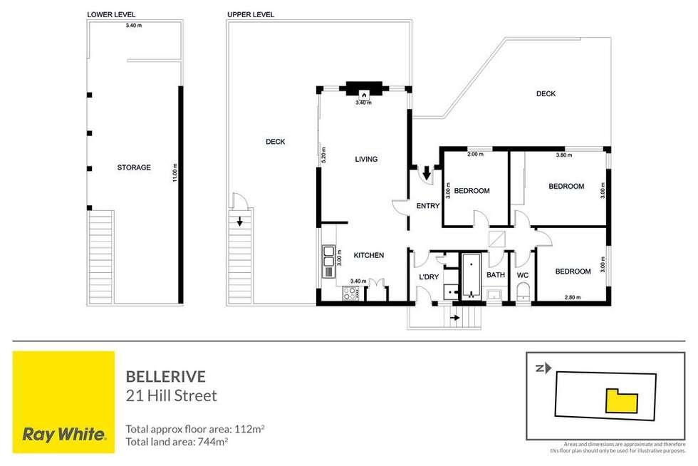 Floorplan of Homely house listing, 21 Hill Street, Bellerive TAS 7018