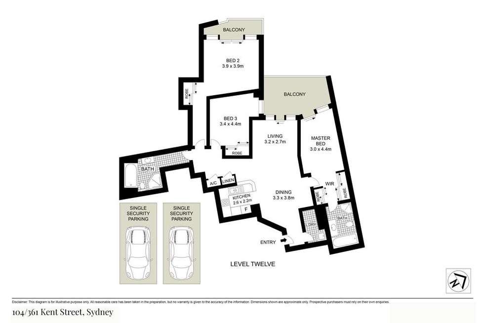 Floorplan of Homely apartment listing, 104/361-363 Kent Street, Sydney NSW 2000