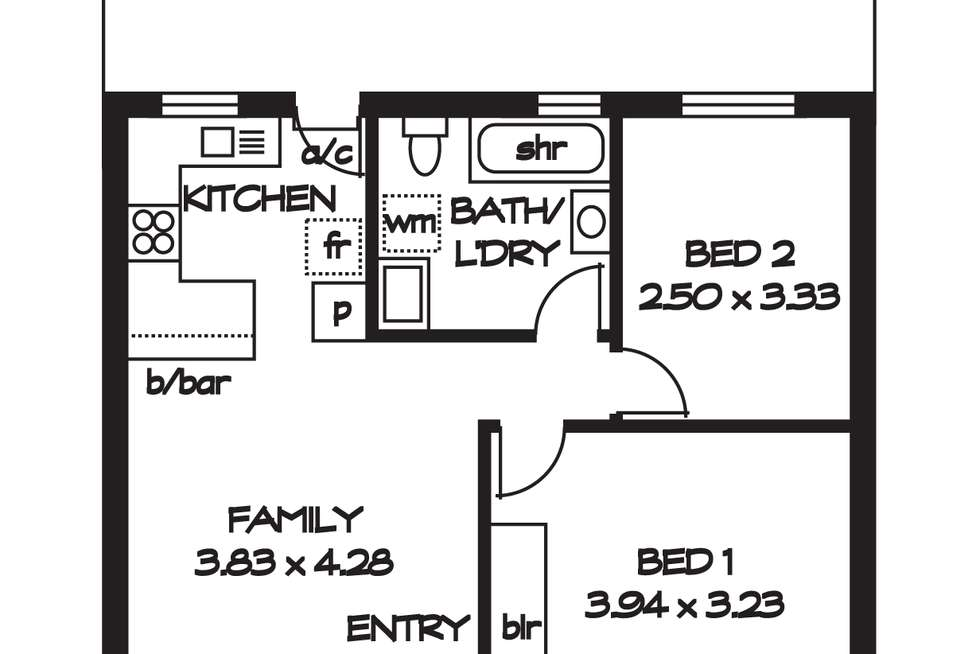 Floorplan of Homely house listing, 2/34 Norma Street, Mile End SA 5031