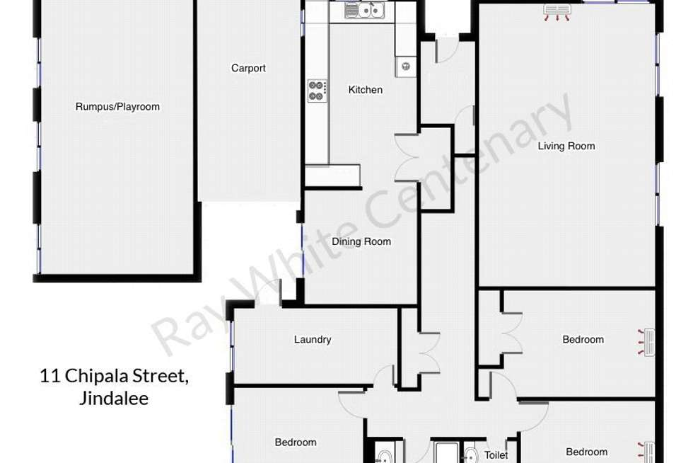 Floorplan of Homely house listing, 11 Chipala Street, Jindalee QLD 4074