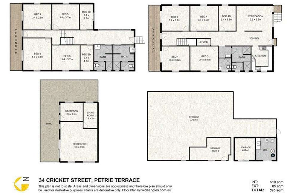 Floorplan of Homely house listing, 34 Cricket Street, Petrie Terrace QLD 4000