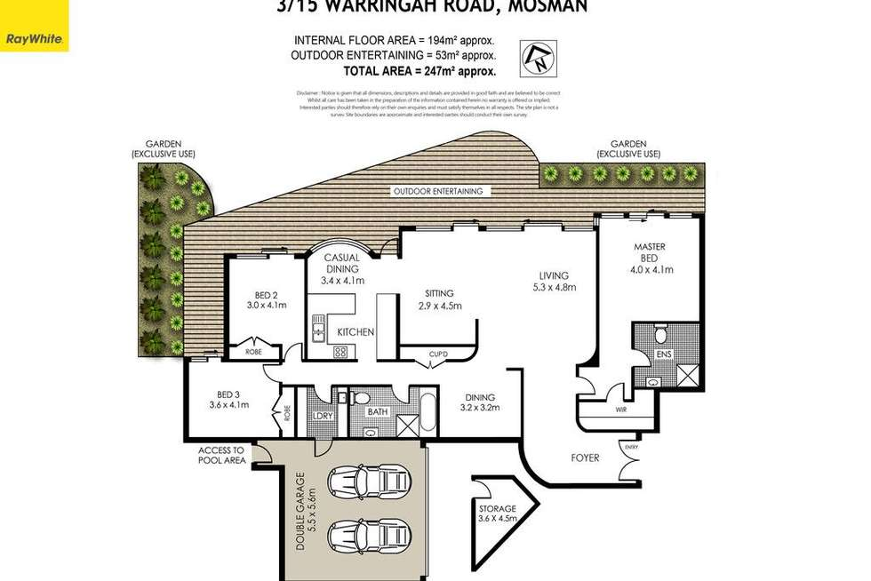 Floorplan of Homely apartment listing, 3/15 Warringah Road, Mosman NSW 2088