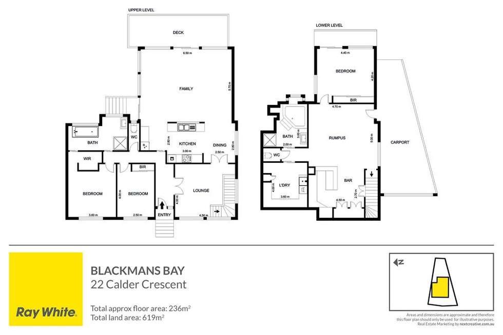 Floorplan of Homely house listing, 22 Calder Crescent, Blackmans Bay TAS 7052