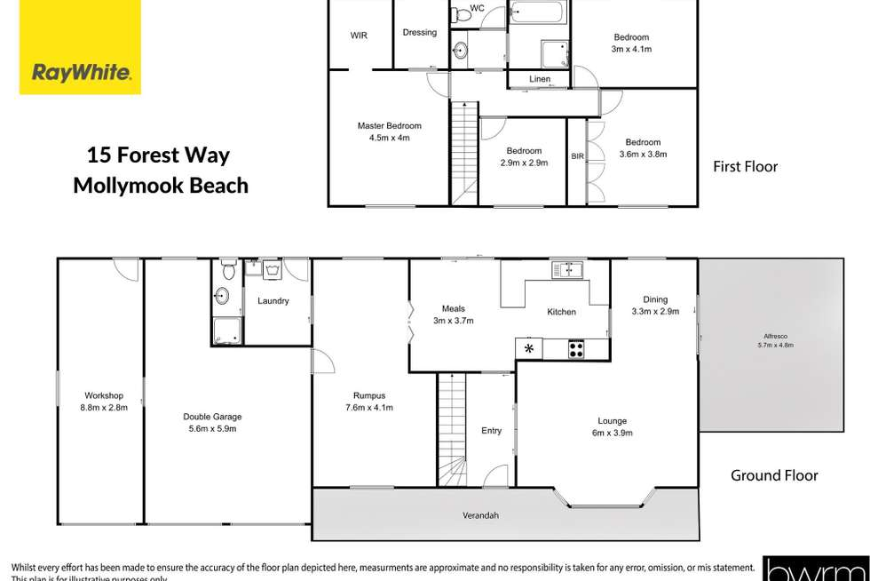Floorplan of Homely house listing, 15 Forest Way, Mollymook NSW 2539