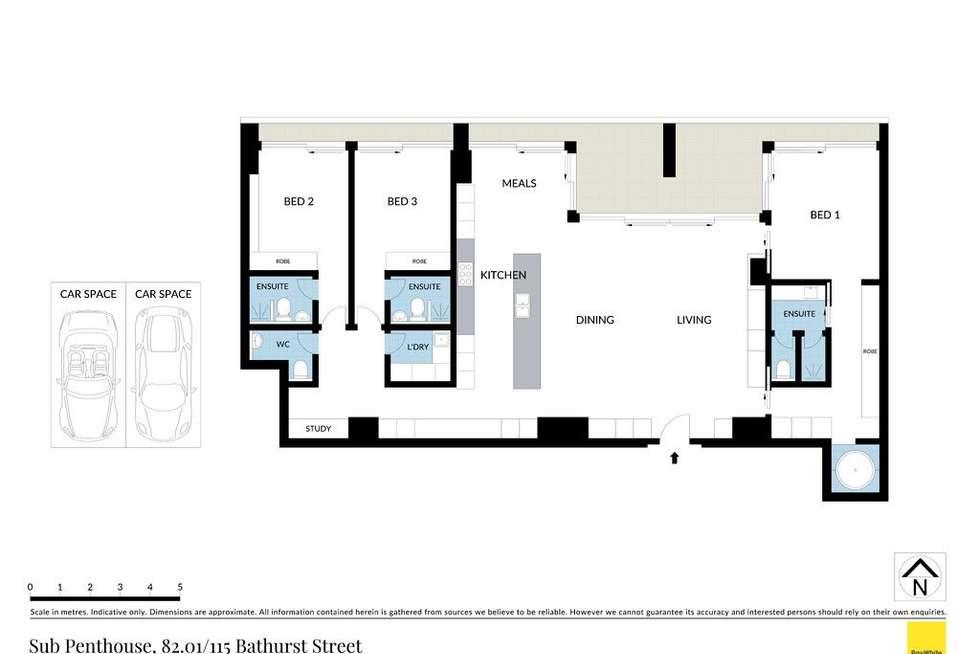 Floorplan of Homely apartment listing, Sub Penthouse 82.01/115 Bathurst Street, Sydney NSW 2000