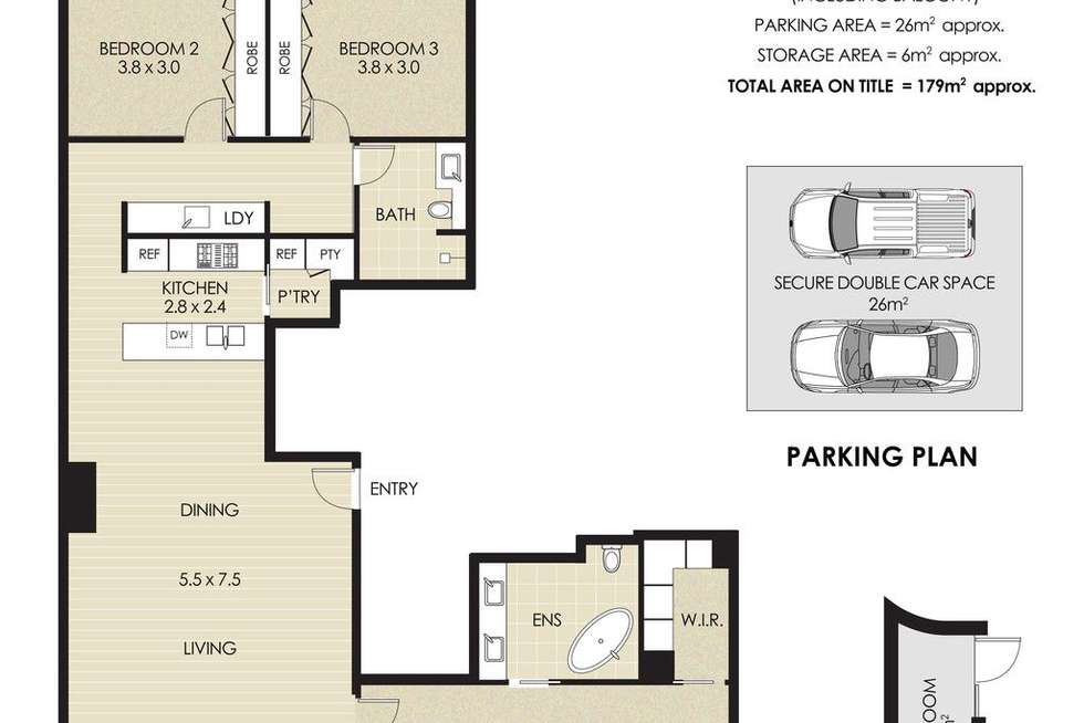 Floorplan of Homely apartment listing, 16/5 Gurrigal Street, Mosman NSW 2088