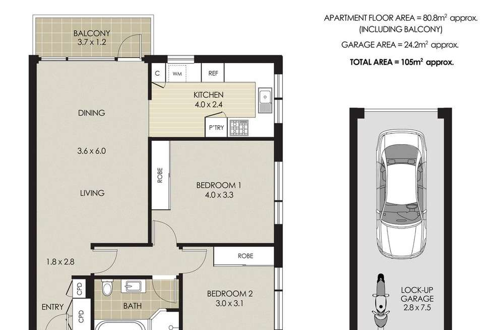 Floorplan of Homely apartment listing, 11/44 Bennett Street, Cremorne NSW 2090