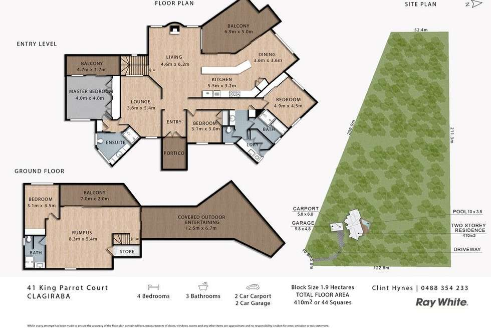 Floorplan of Homely house listing, 41 King Parrot Court, Clagiraba QLD 4211