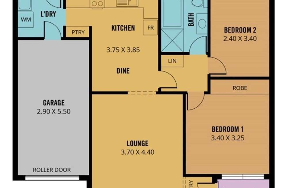Floorplan of Homely unit listing, 4/21 Woodville Road, Woodville South SA 5011