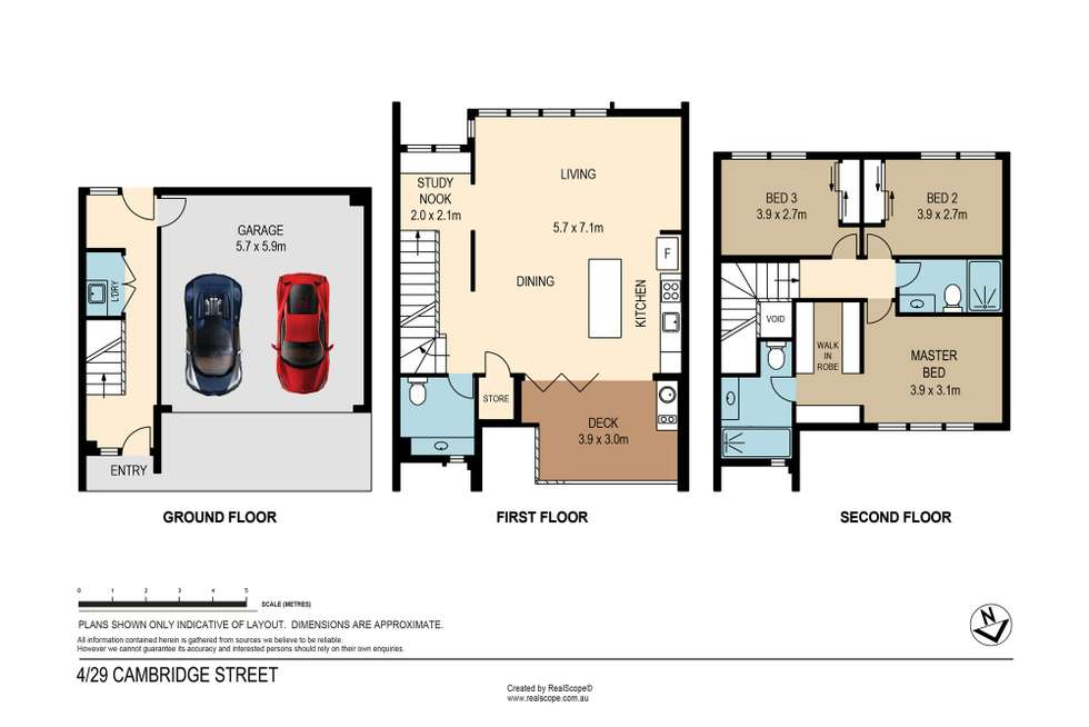 Floorplan of Homely townhouse listing, 4/29 Cambridge Street, Carina Heights QLD 4152