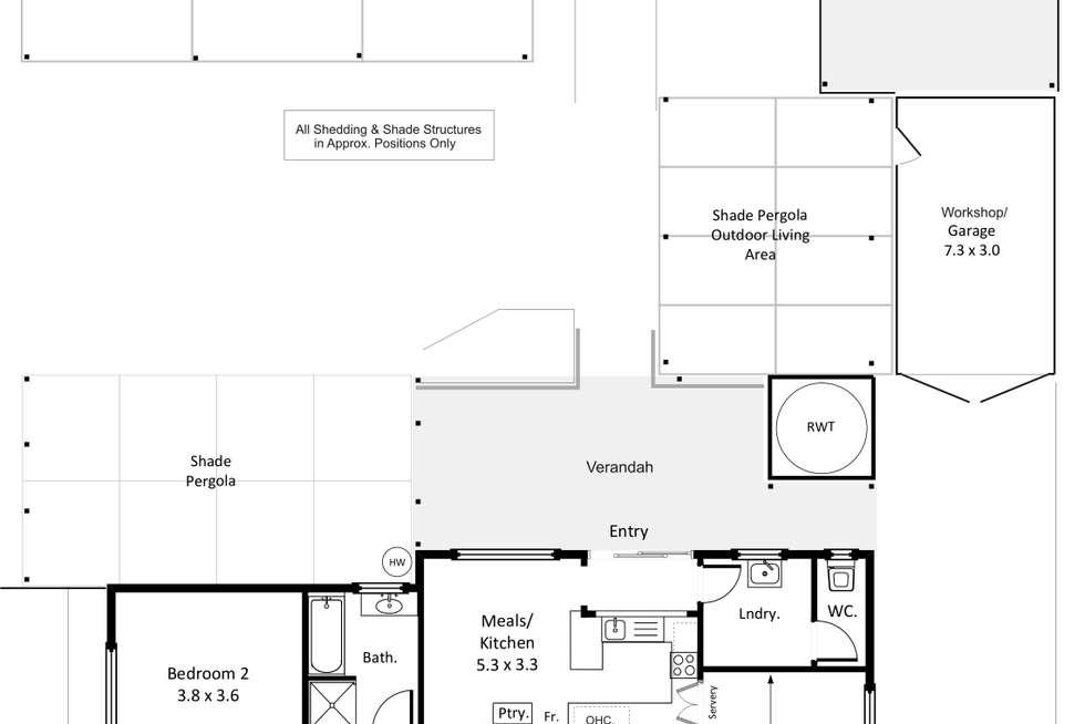 Floorplan of Homely house listing, 24 Nookamka Terrace, Barmera SA 5345