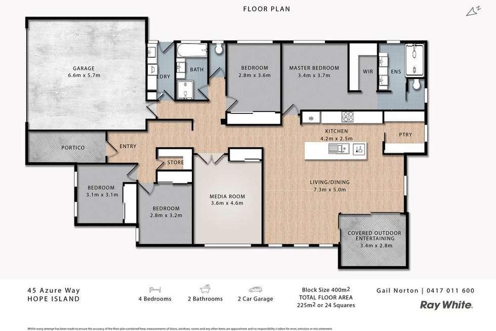 Floorplan of Homely house listing, 45 Azure Way, Hope Island QLD 4212