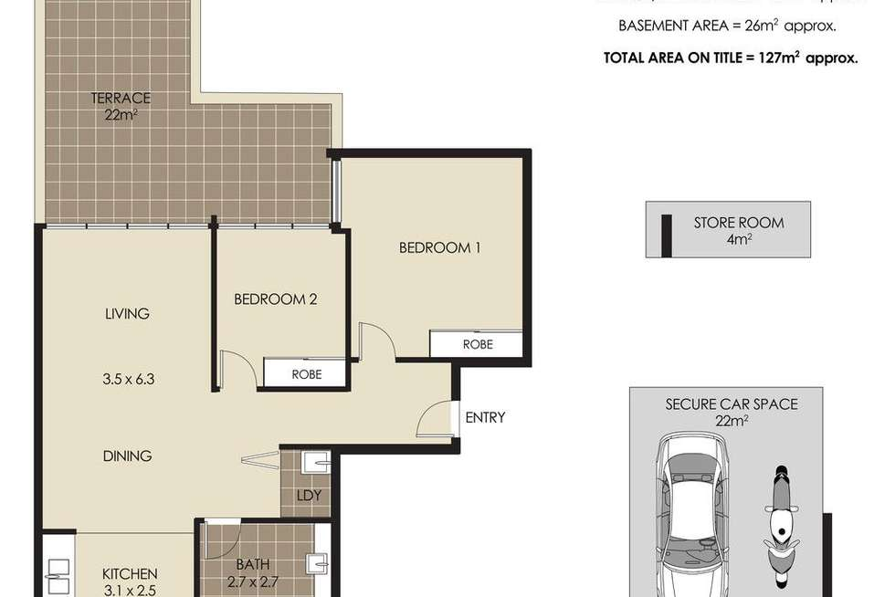 Floorplan of Homely apartment listing, 102/320 Military Road, Cremorne NSW 2090