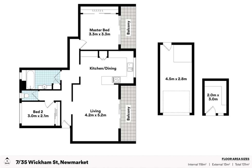 Floorplan of Homely unit listing, 7/35 Wickham Street, Newmarket QLD 4051