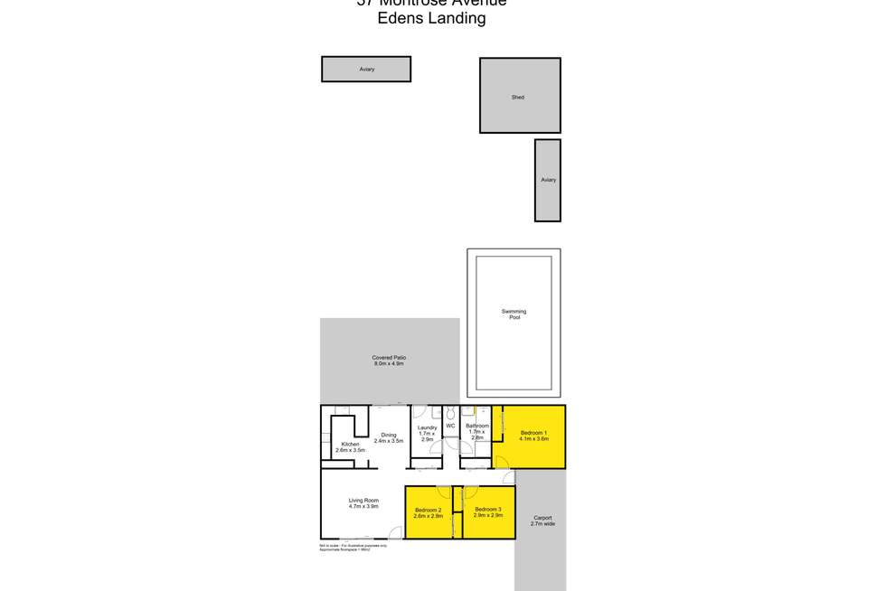 Floorplan of Homely house listing, 37 Montrose Avenue, Bethania QLD 4205