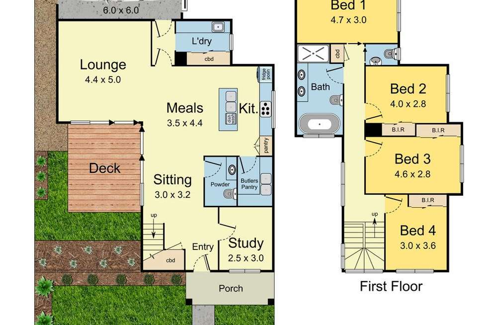 Floorplan of Homely townhouse listing, 1/17 Ling Court, Mulgrave VIC 3170