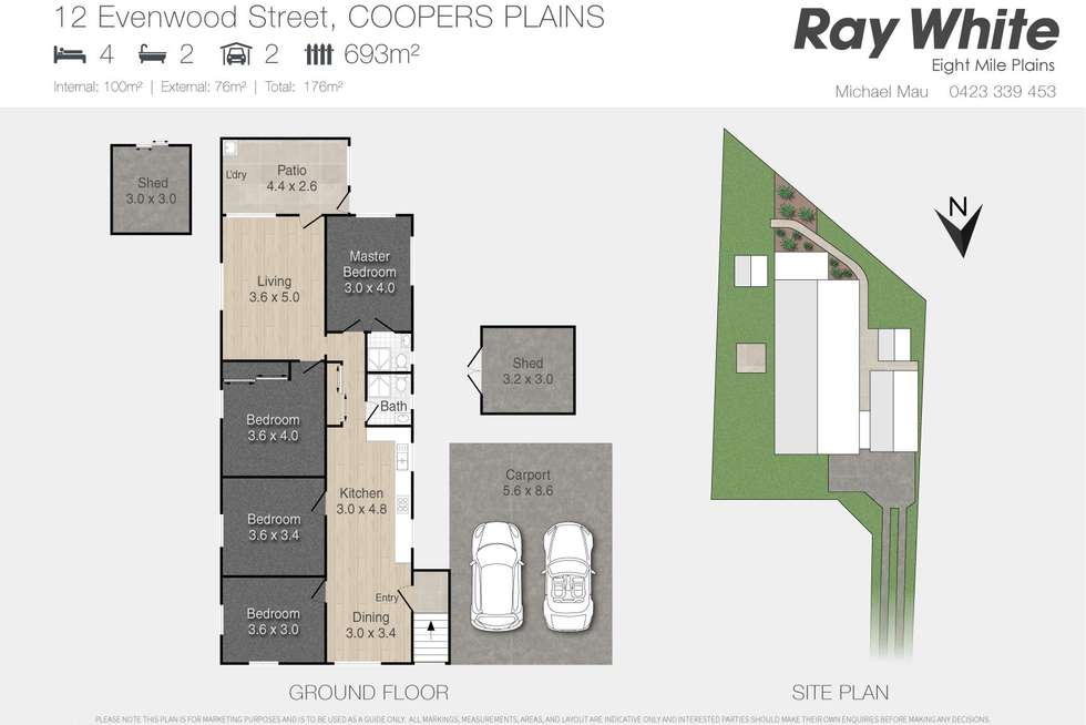 Floorplan of Homely house listing, 12 Evenwood Street, Coopers Plains QLD 4108