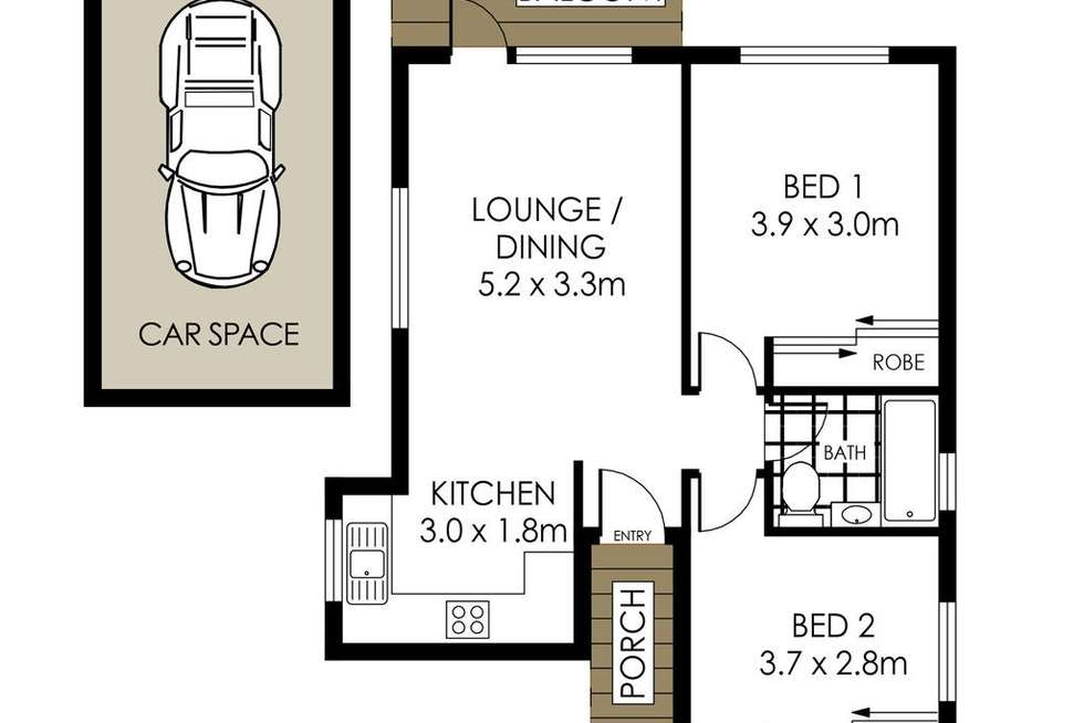 Floorplan of Homely apartment listing, 5/3 Clifford Street, Mosman NSW 2088