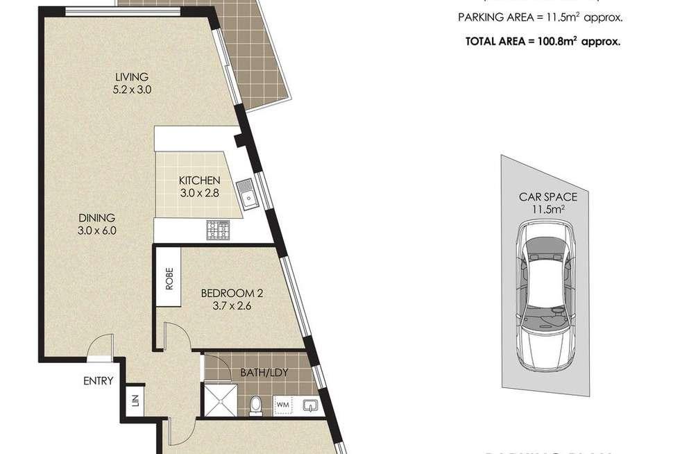 Floorplan of Homely apartment listing, 24/67 Bradleys Head Road, Mosman NSW 2088
