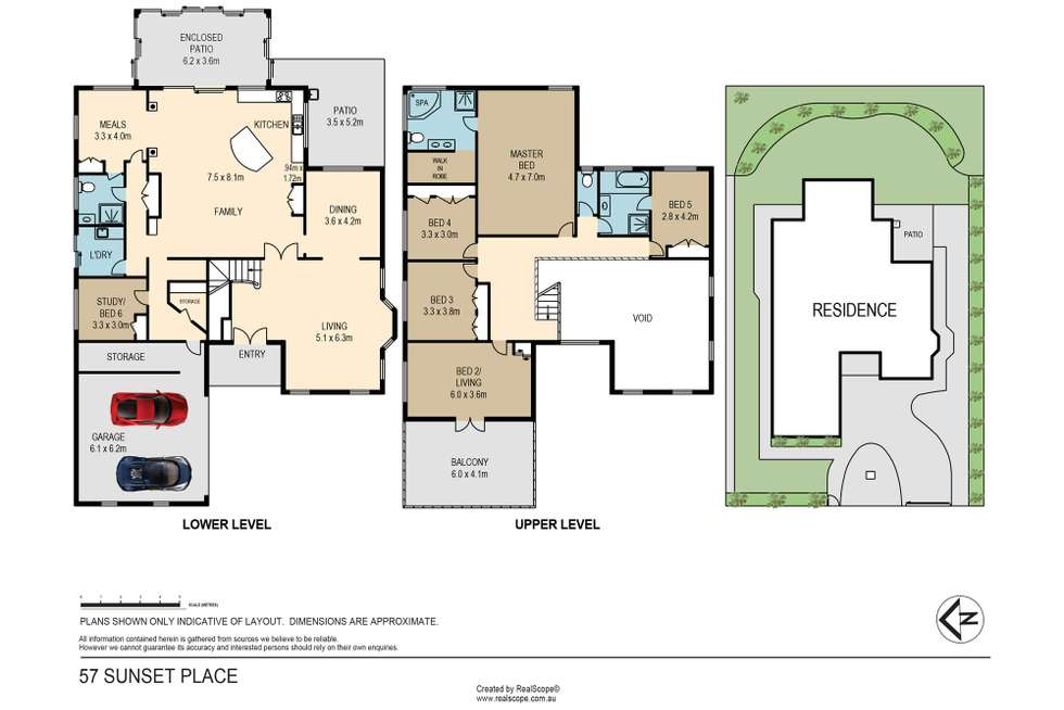 Floorplan of Homely house listing, 57 Sunset Place, Carindale QLD 4152