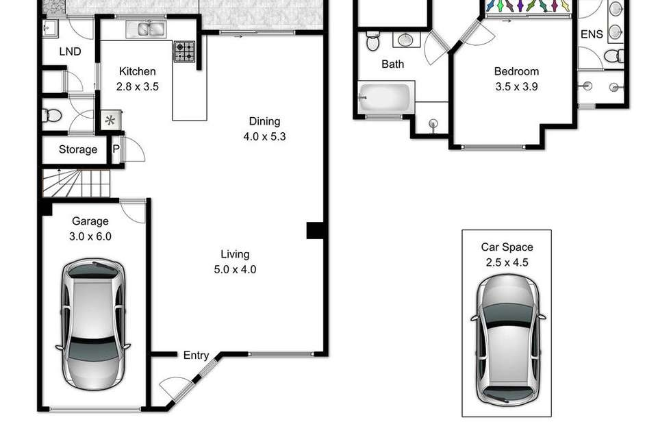 Floorplan of Homely townhouse listing, 25/11 Glin Avenue, Newmarket QLD 4051