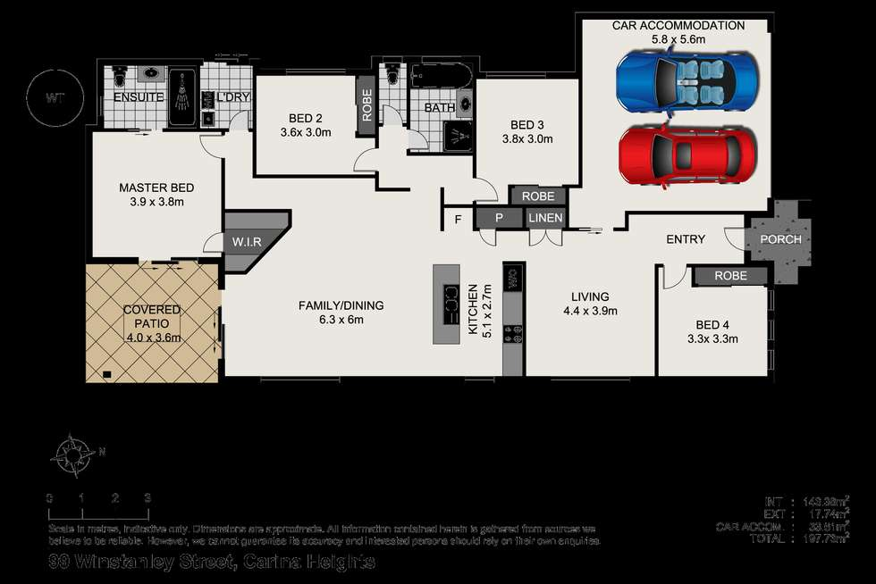 Floorplan of Homely house listing, 99 Winstanley Street, Carina Heights QLD 4152