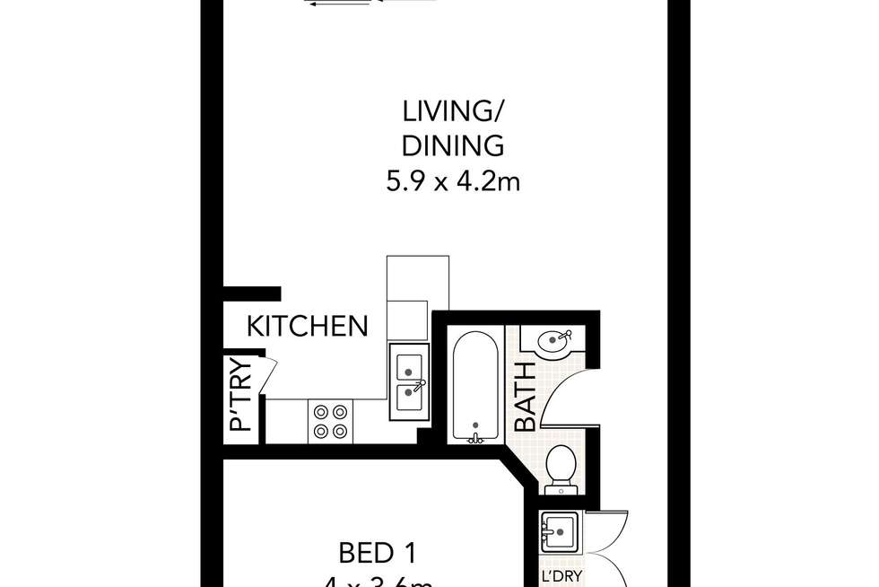 Floorplan of Homely apartment listing, 9/238 William Street, Potts Point NSW 2011