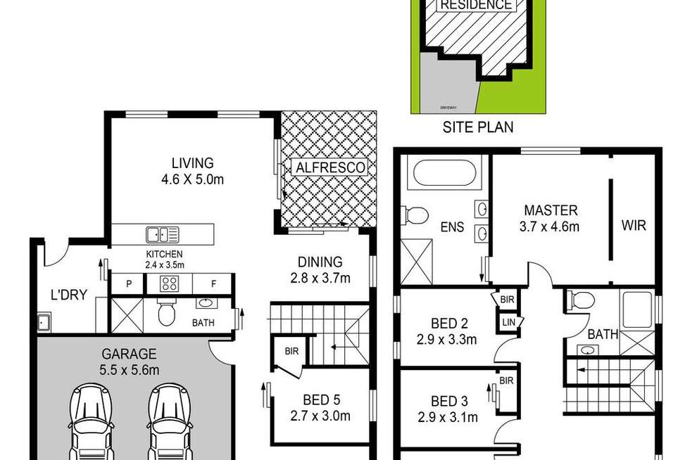 Floorplan of Homely house listing, 36 Reuben Street, Riverstone NSW 2765