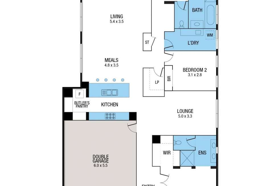 Floorplan of Homely house listing, 6 Parkside Avenue, Romsey VIC 3434