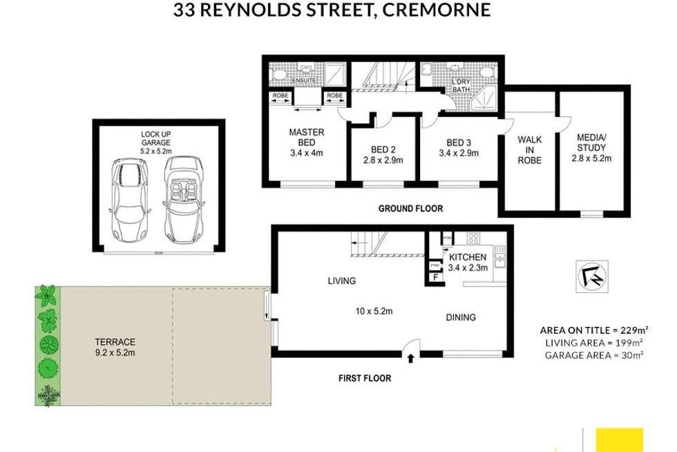 Floorplan of Homely apartment listing, 4/33-35 Reynolds Street, Cremorne NSW 2090