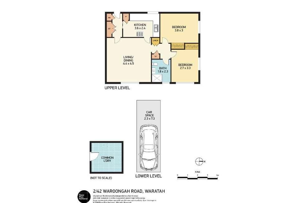 Floorplan of Homely unit listing, 2/44-46 Waroonga Road, Waratah NSW 2298