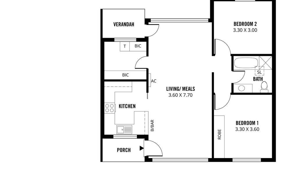Floorplan of Homely unit listing, 9/216 Payneham Road, Evandale SA 5069