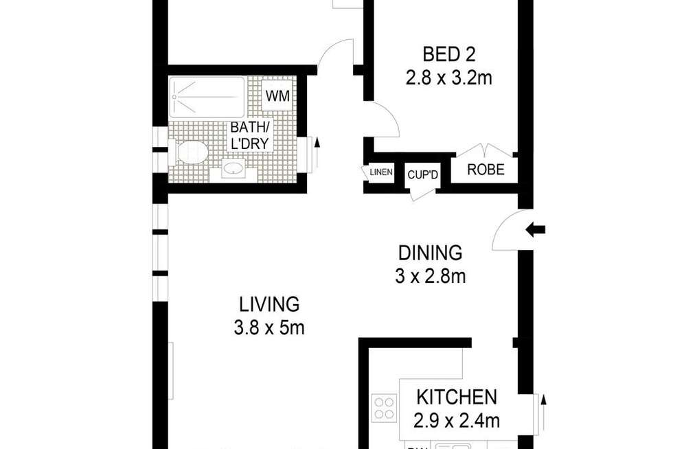 Floorplan of Homely apartment listing, 4/25 Churchill Crescent, Cammeray NSW 2062