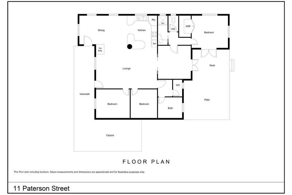 Floorplan of Homely house listing, 11 Paterson Street, Denmark WA 6333