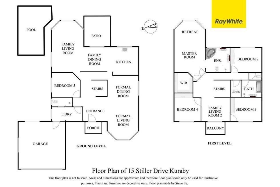 Floorplan of Homely house listing, 15 Stiller Drive, Kuraby QLD 4112