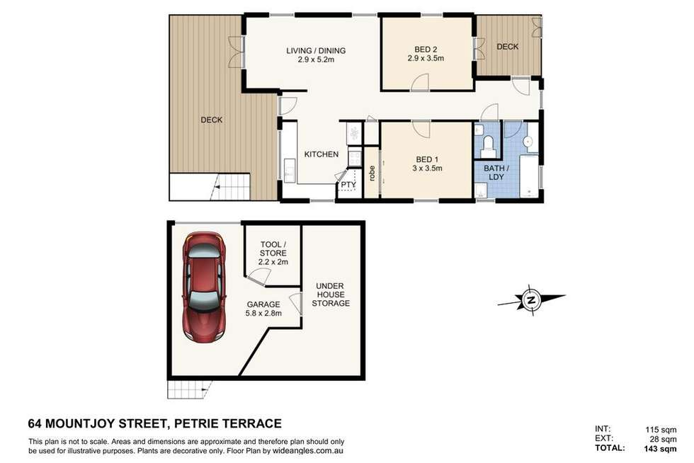 Floorplan of Homely house listing, 64 Mountjoy Street, Petrie Terrace QLD 4000