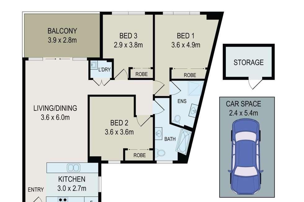 Floorplan of Homely apartment listing, 402/6-10 Charles Street, Parramatta NSW 2150