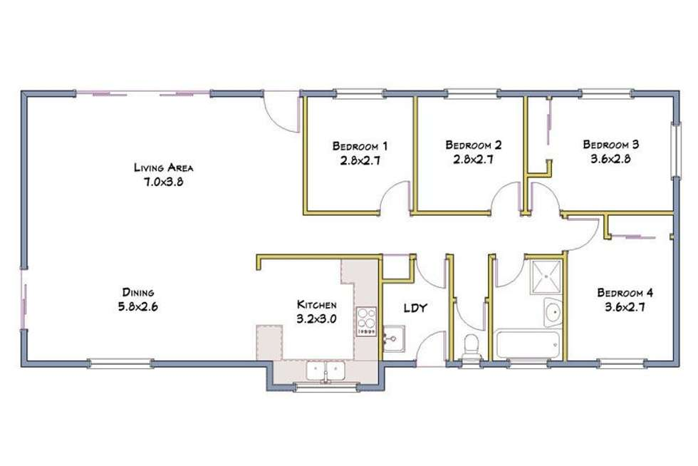 Floorplan of Homely house listing, 28 Ivanhoe Drive, Bethania QLD 4205