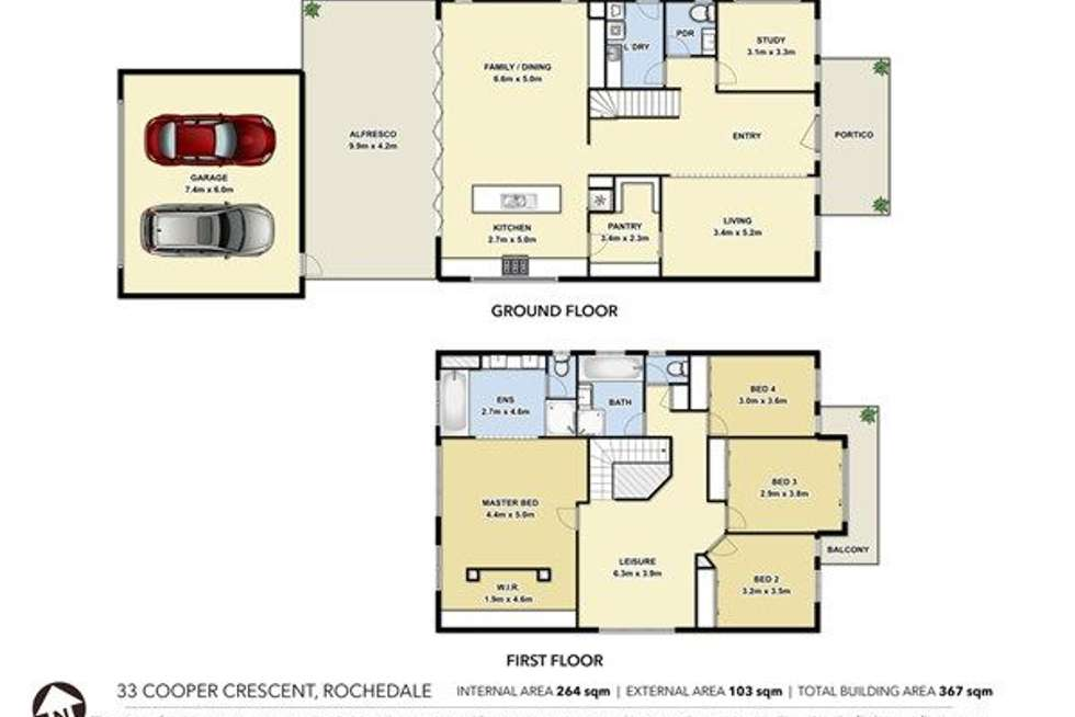 Floorplan of Homely house listing, 33 Cooper Crescent, Rochedale QLD 4123
