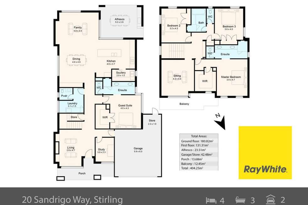 Floorplan of Homely house listing, 20 Sandrigo Way, Stirling WA 6021
