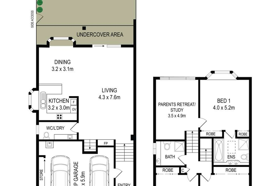 Floorplan of Homely townhouse listing, 86/40 Strathalbyn Drive, Oatlands NSW 2117