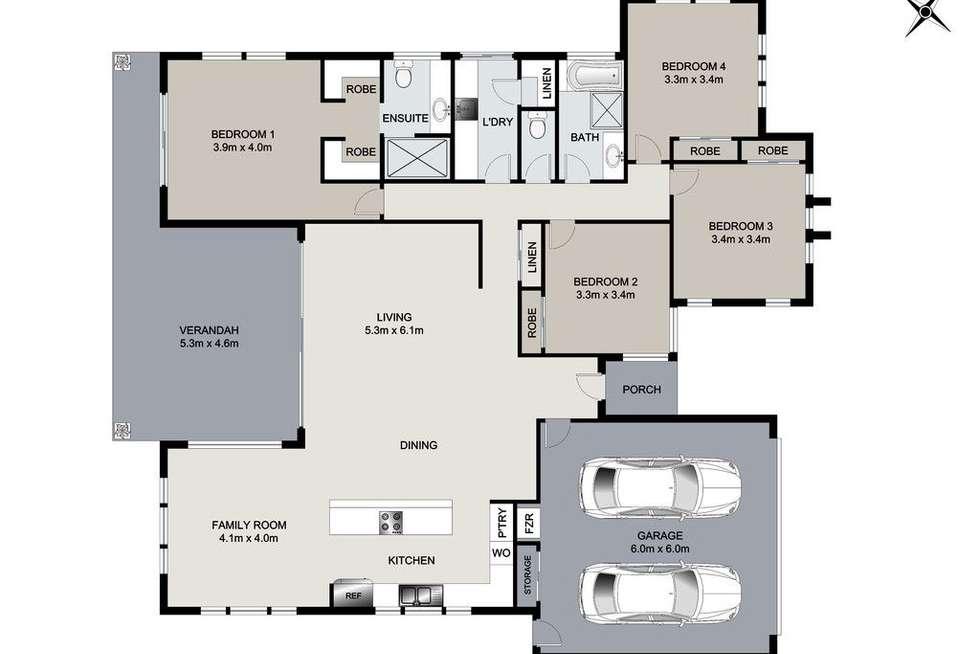 Floorplan of Homely house listing, 8 Eucalyptus Place, Kirkwood QLD 4680