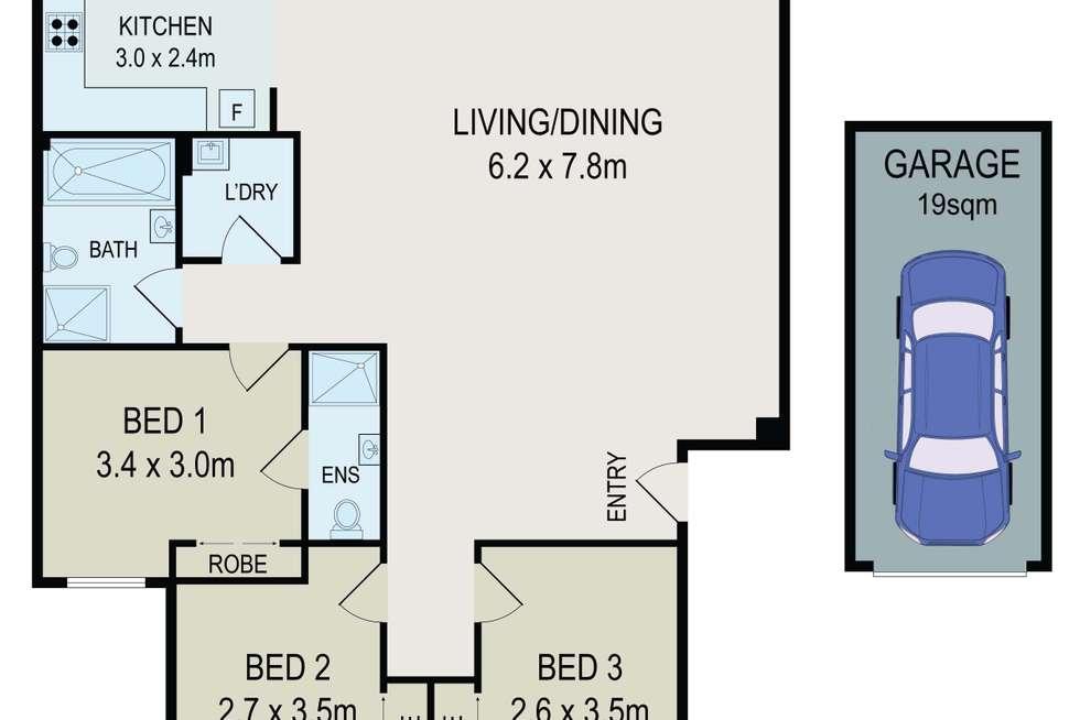 Floorplan of Homely unit listing, D25/88-98 Marsden Street, Parramatta NSW 2150