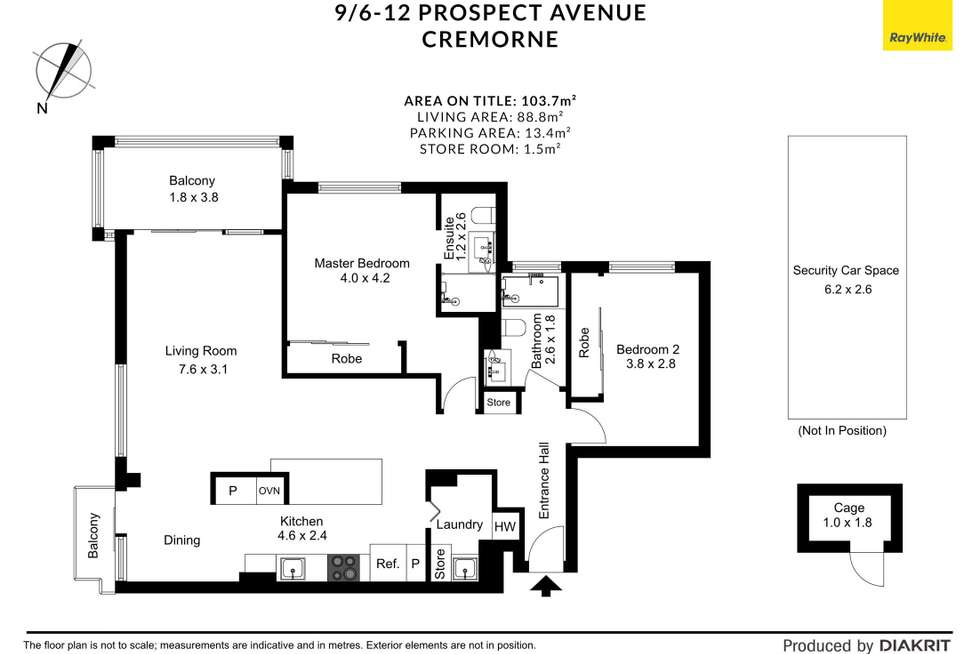 Floorplan of Homely apartment listing, 9/6-12 Prospect Avenue, Cremorne NSW 2090